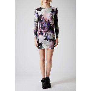 TOPSHOP petite floral dress. Size 6